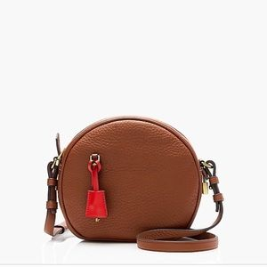 J. Crew signet circle bag in Italian leather, NWT
